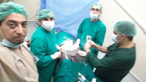 اجراء عملية نادرة في صالة عمليات المعهد